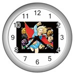 supergirl and the legend of super heroes Wall Clock (Silver)