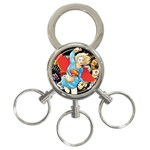 supergirl and the legend of super heroes 3-Ring Key Chain