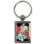 supergirl and the legend of super heroes Key Chain (Rectangle)