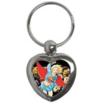 supergirl and the legend of super heroes Key Chain (Heart)