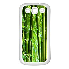 Bamboo Samsung Galaxy S3 Back Case (white) by Siebenhuehner