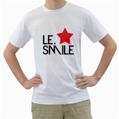 Le  Smile Mens  T Shirt (white)