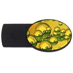 Balls 4gb Usb Flash Drive (oval) by Siebenhuehner