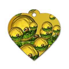 Balls Dog Tag Heart (one Sided)  by Siebenhuehner