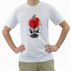 The Warrior Mens  T Shirt (white) by DesignsbyReg2