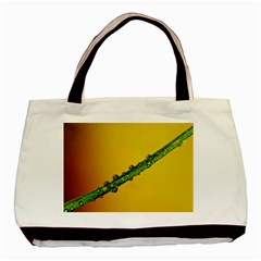 Drops Twin Sided Black Tote Bag by Siebenhuehner