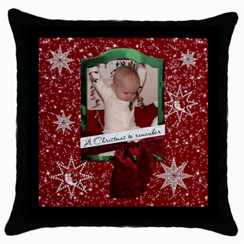 Christmas To Remember Throw Pillow Case By Lil    Throw Pillow Case (black)   Vlh39fdhv048   Www Artscow Com Front