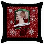 Christmas To Remember Throw Pillow Case - Throw Pillow Case (Black)