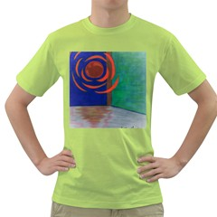 Red Orb Mens  T Shirt (green) by JacklyneMaeDesignsMarketingproducts