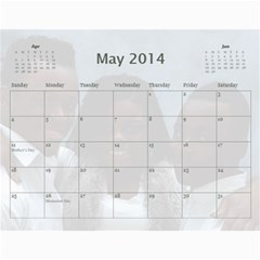 Webster By Wilma Phillips   Wall Calendar 11  X 8 5  (18 Months)   Ola9kr8yqjx4   Www Artscow Com May 2014