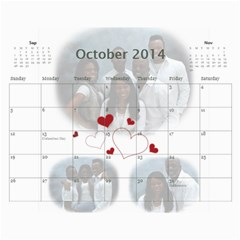 Webster By Wilma Phillips   Wall Calendar 11  X 8 5  (18 Months)   Ola9kr8yqjx4   Www Artscow Com Oct 2014