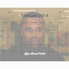 Webster By Wilma Phillips   Wall Calendar 11  X 8 5  (18 Months)   Ola9kr8yqjx4   Www Artscow Com Feb 2014