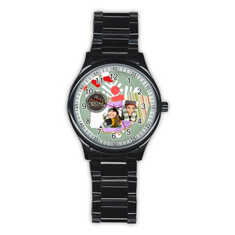 Merry Christmas By Merry Christmas   Stainless Steel Round Watch   Gfgimxs5hti9   Www Artscow Com Front