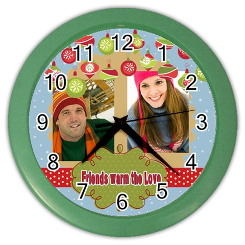 Christmas By Merry Christmas   Color Wall Clock   Ajixsmlpl604   Www Artscow Com Front