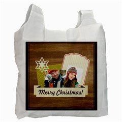 Merry Christmas By Merry Christmas   Recycle Bag (two Side)   6u22deglv8ik   Www Artscow Com Front