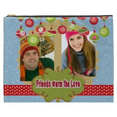 Merry Christmas By Merry Christmas   Cosmetic Bag (xxxl)   Ya5ccbxtb34r   Www Artscow Com Front