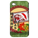 merry christmas - Apple iPhone 4/4S Hardshell Case (PC+Silicone)