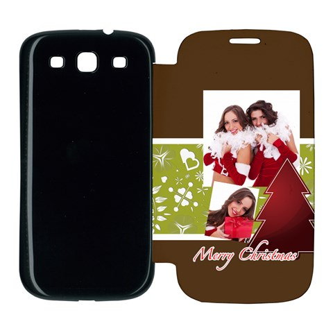 Merry Christmas By Angena Jolin   Samsung Galaxy S3 Flip Cover Case   Cuswy3hbeqsi   Www Artscow Com Front