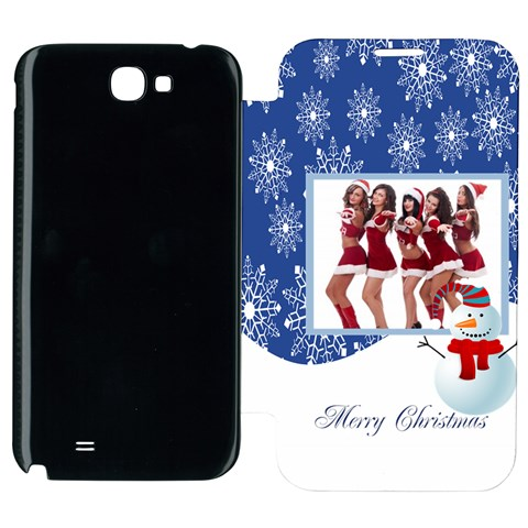 Merry Christmas By Angena Jolin   Samsung Galaxy Note 2 Flip Cover Case   F6b1z2iqmj83   Www Artscow Com Front