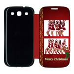 merry christmas - Samsung Galaxy S3 Flip Cover Case