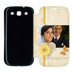 wedding - Samsung Galaxy S3 Flip Cover Case