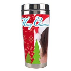 Merry Christmas By M Jan   Stainless Steel Travel Tumbler   872jc2qbhl4i   Www Artscow Com Center