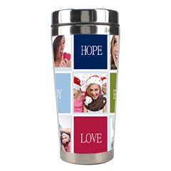 Merry Christmas By M Jan   Stainless Steel Travel Tumbler   0bxypjg5znpy   Www Artscow Com Left