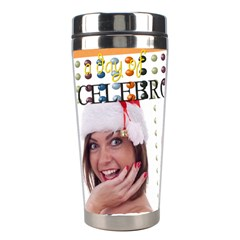 Merry Christmas By M Jan   Stainless Steel Travel Tumbler   Tcsgq0if2019   Www Artscow Com Left