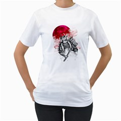 Undead Samurai Womens  T Shirt (white) by Contest1731890