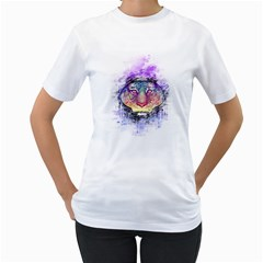 Tiger Space Ranger Womens  T Shirt (white) by Contest1731890
