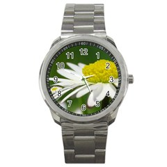 Daisy With Drops Sport Metal Watch by Siebenhuehner