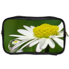 Daisy With Drops Travel Toiletry Bag (two Sides) by Siebenhuehner