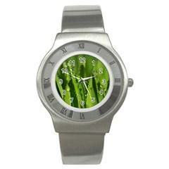 Grass Drops Stainless Steel Watch (slim) by Siebenhuehner
