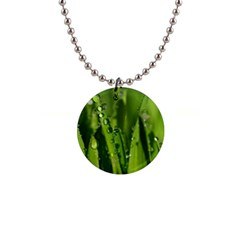 Grass Drops Button Necklace by Siebenhuehner