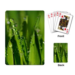 Grass Drops Playing Cards Single Design by Siebenhuehner