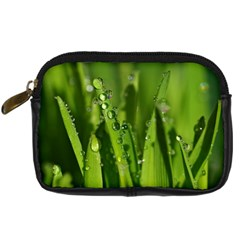 Grass Drops Digital Camera Leather Case by Siebenhuehner