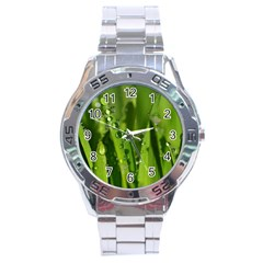 Grass Drops Stainless Steel Watch by Siebenhuehner