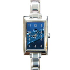 Drops Rectangular Italian Charm Watch by Siebenhuehner