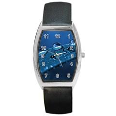 Drops Tonneau Leather Watch by Siebenhuehner