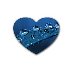 Drops Drink Coasters 4 Pack (heart)  by Siebenhuehner