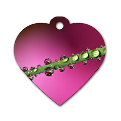 Drops Dog Tag Heart (two Sided) by Siebenhuehner