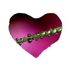 Drops 16  Premium Heart Shape Cushion  by Siebenhuehner