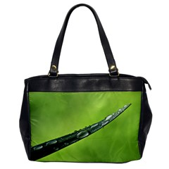 Green Drops Oversize Office Handbag (one Side) by Siebenhuehner