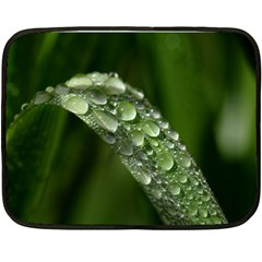 Grass Drops Mini Fleece Blanket (Two Sided)