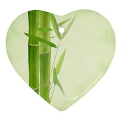 Bamboo Heart Ornament by Siebenhuehner