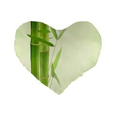 Bamboo 16  Premium Heart Shape Cushion  by Siebenhuehner