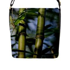 Bamboo Flap Closure Messenger Bag (large) by Siebenhuehner