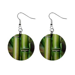Bamboo Mini Button Earrings by Siebenhuehner