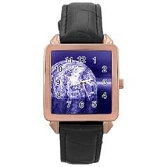 Ball Rose Gold Leather Watch  by Siebenhuehner