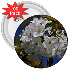 Cherry Blossom 3  Button (100 pack)